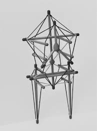 Model of our body's Tensegrity System Framework with Struts (our bones) and Elastics (our fascia)