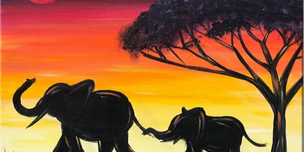 Safari at Sunset