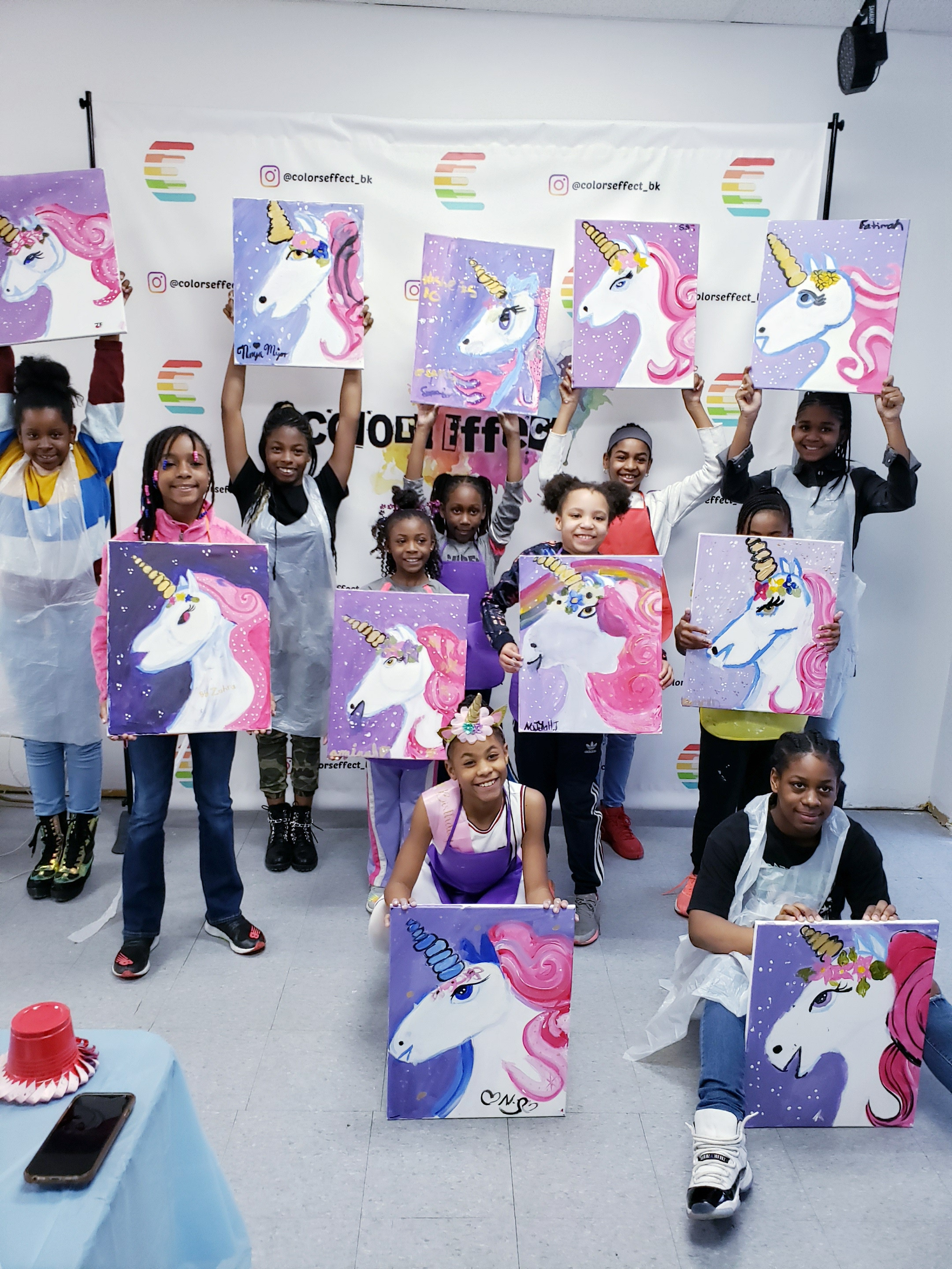 Kids Birthday Paint Party