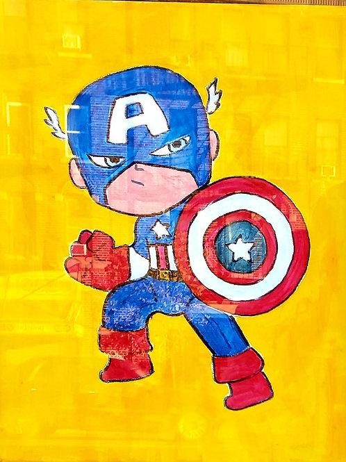 Marvel: Captain A - Set of 5 Paint Kits