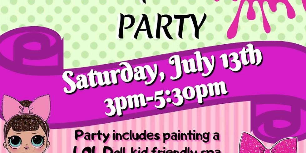 L.O.L Dolls Spa & Paint Party