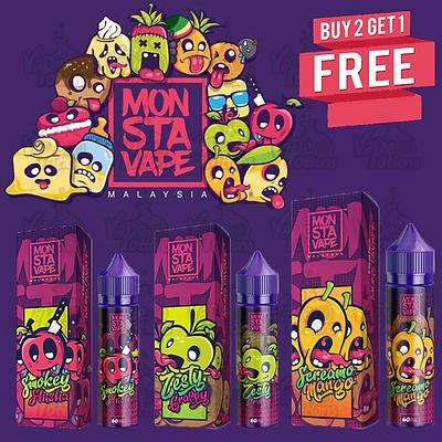 Monsta Vape E Liquid Buy 1 get 1 free
