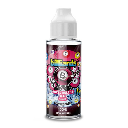 Mixed Berries Ice by Billiards E Liquid 120ml Shortfill