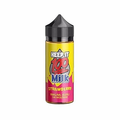 Strawberry Milk by Keep it 100 E Liquid 100ml Shortfill