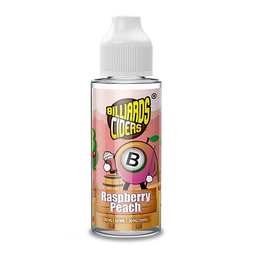 Raspberry Peach Ciders by Billiards E Liquid 120ml Shortfill