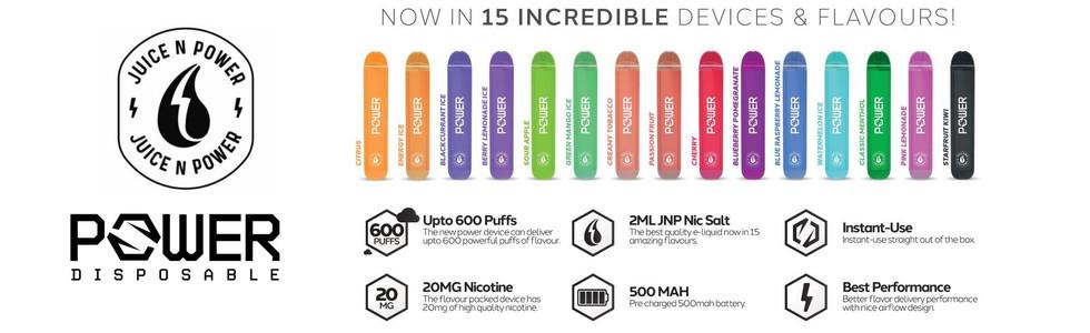 Juice N Power Disposable Vape Pods