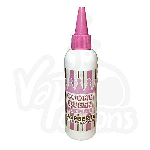 Raspberry White Chocolate by Cookie Queen E Liquid 100ml Shortfill