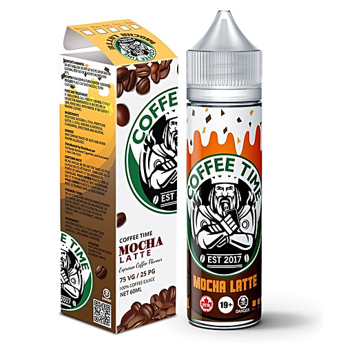 Mocha Latte by Coffee Time E Liquid 60ml Shortfill