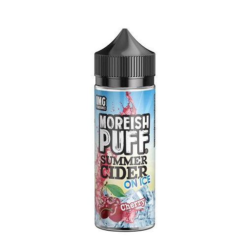 Cherry Summer Cider On Ice by Moreish Puff E Liquid 120ml Shortfill