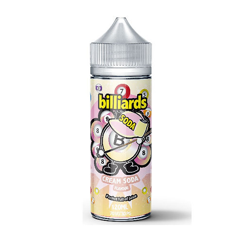 Cream Soda by billiards E Liquid 120ml Shortfill