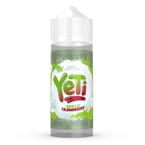 Apple Cranberry by Yeti E Liquid 120ml Shortfill