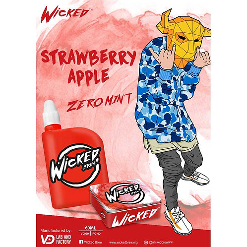 Strawberry Apple by Wicked Brew E Liquid 60ml Shortfill