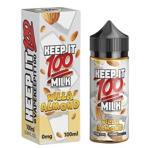 Nilla Almond by Keep it 100 E Liquid 120ml Shortfill