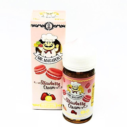 Strawberry Cream by Mr Macaron E Liquid 100ml Shortfill