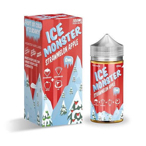 Strawmelon Apple (Ice Monster) by Jam Monster E Liquid 120ml Shortfill