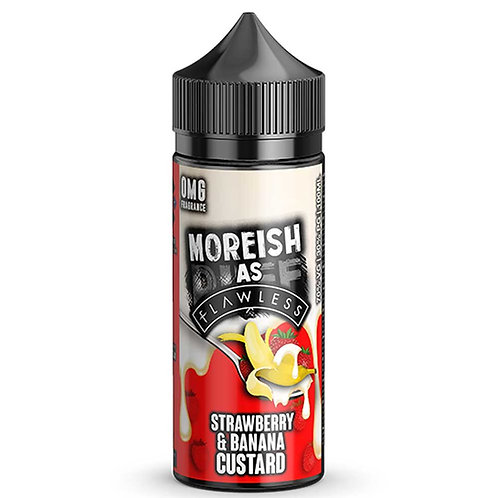 Strawberry Banana Custard by Moreish (As Flawless) Puff E Liquid 120ml Shortfill