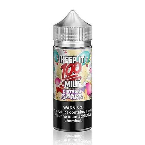 Birthday Shake by Keep it 100 Milk E Liquid 120ml Shortfill