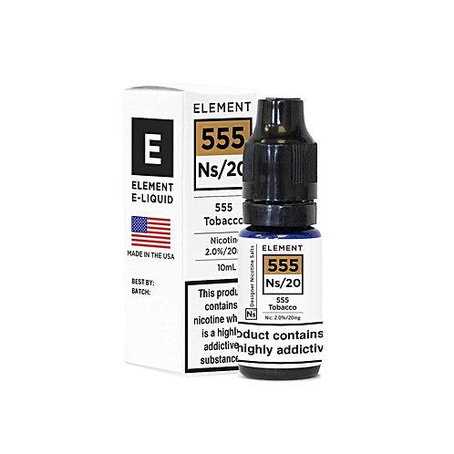 555 Tobacco NS20 Designer Nicotine Salt by Element E Liquid