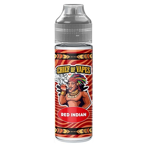 Red Indian (The Three Chiefs) by Chief Of Vapes E Liquid 60ml Shortfill