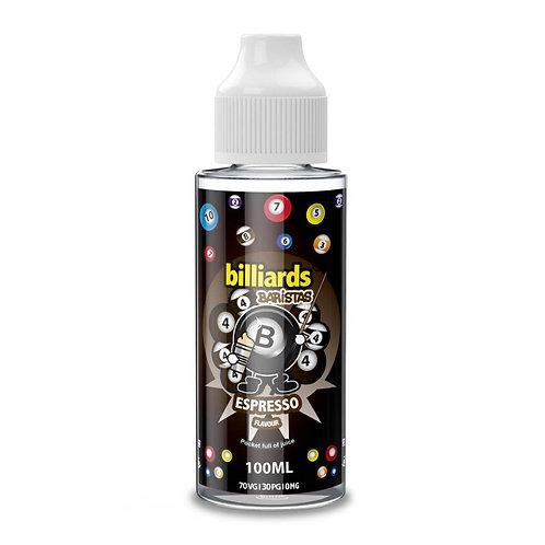 Barristas Espresso by Billiards E Liquid 120ml Shortfill