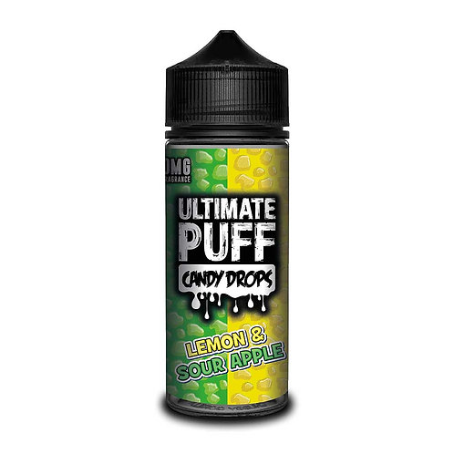 Lemon & Sour Apple Candy Drops by Ultimate Puff E Liquid 120ml Shortfill