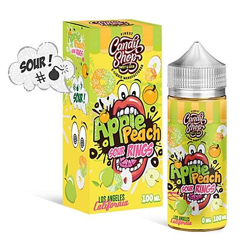 Apple Peach Sour Rings by Candy Shop E Liquid 100ml Shortfill
