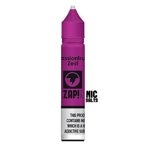 Passionfruit Zest Nic Salt by Zap Juice E Liquid