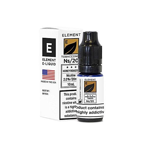 Honey Roasted Tobacco NS20 Designer Nicotine Salt by Element E Liquid