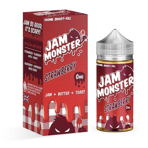 Strawberry by Jam Monster E Liquid 120ml Shortfill