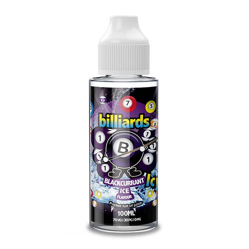 Blackcurrant Ice by Billiards E Liquid 120ml Shortfill