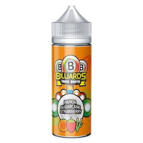 Papaya Sugarcane Strawberry Trick Shots by Billiards E Liquid 120ml Shortfill