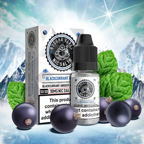 Blackcurrant Burst Nic Salt by Buddha Vapes E Liquid