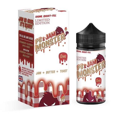 Strawberry PB & Jam by Jam Monster E Liquid 120ml Shortfill