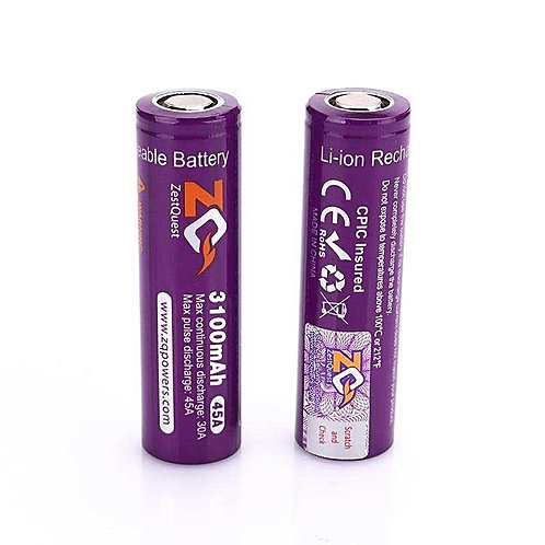 2 x Zest Quest 3100mah 45A Batteries