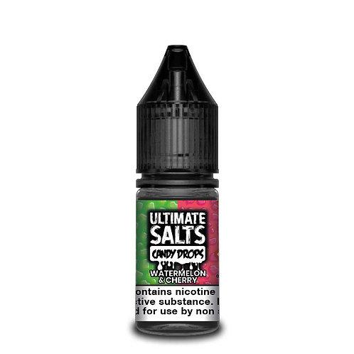 Watermelon & Cherry Candy Drops Nic Salt by Ultimate Puff E Liquid