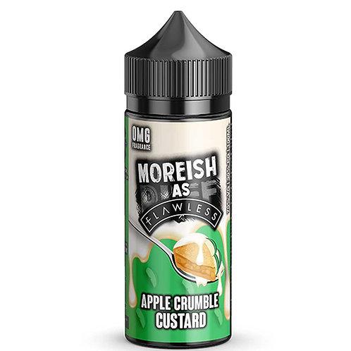Apple Crumble Custard by Moreish (As Flawless) Puff E Liquid 120ml Shortfill