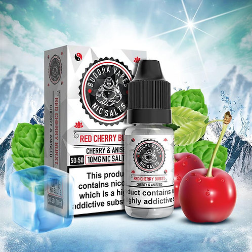 Red Cherry Burst Nic Salt by Buddha Vapes E Liquid