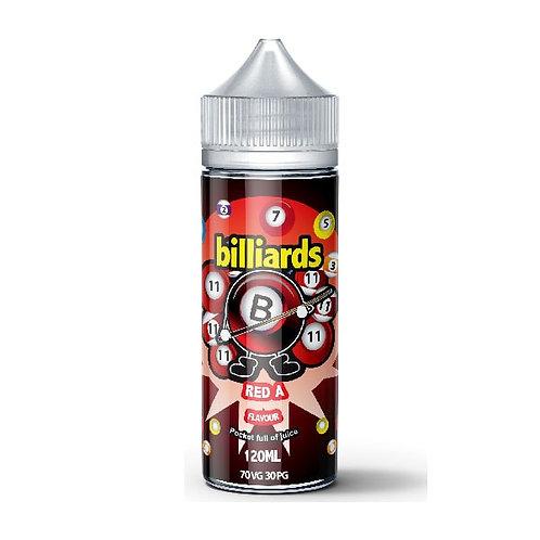 Red A by billiards E Liquid 120ml Shortfill