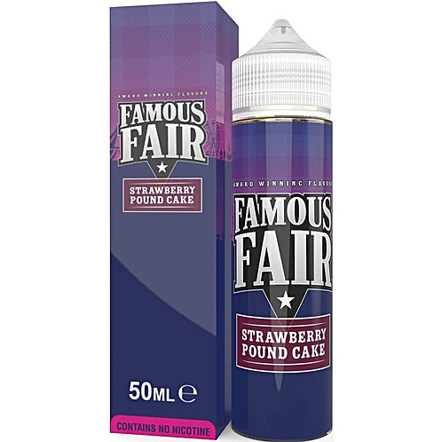 Famous Fair Strawberry Pound Cake by One Hit Wonder E Liquid 60ml Shortfill