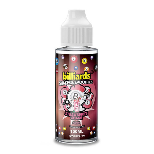 Strawberry Shake by Billiards E Liquid 120ml Shortfill