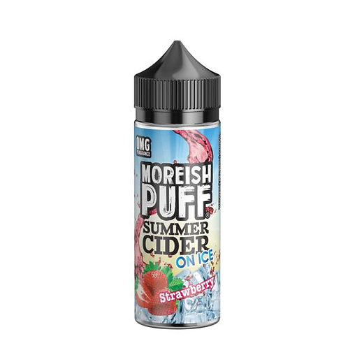 Strawberry Summer Cider On Ice by Moreish Puff E Liquid 120ml Shortfill