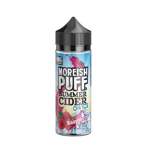 Raspberry Summer Cider On Ice by Moreish Puff E Liquid 120ml Shortfill
