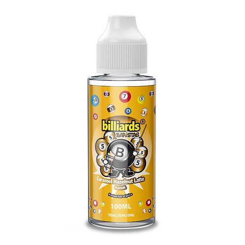 Barristas Caramel Hazelnut Latte by Billiards E Liquid 120ml Shortfill