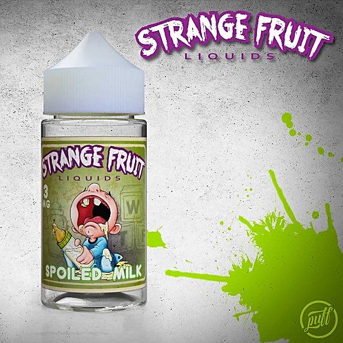 Spoiled Milk Strange Fruit Liquids by Puff Labs E Liquid 100ml Shortfill