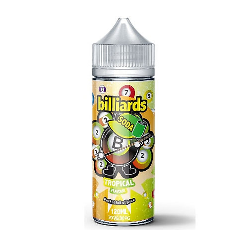 Tropical Soda by billiards E Liquid 120ml Shortfill