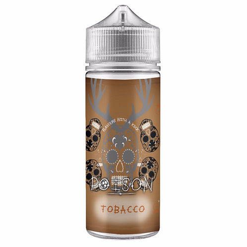Tobacco by Poison E Liquid 120ml Shortfill