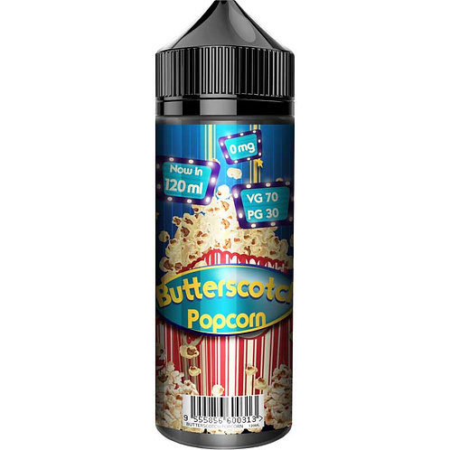 Butterscotch Popcorn by Fizzy Juice E Liquid 120ml Shortfill