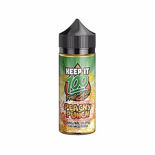 Peachy Punch by Keep it 100 E Liquid 120ml Shortfill