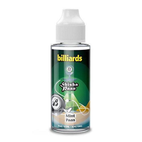 Mint Paan Shisha by Billiards E Liquid 120ml Shortfill
