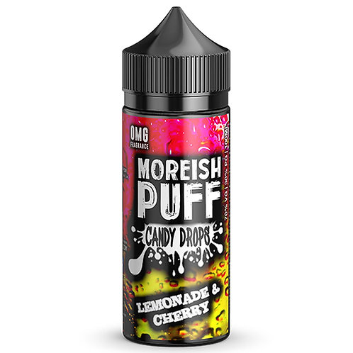 Lemonade & Cherry Candy Drops by Moreish Puff E Liquid 120ml Shortfill